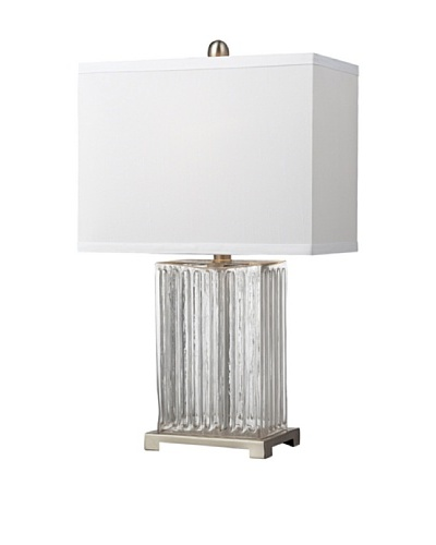 HGTV Home Ribbed Clear Glass Table Lamp