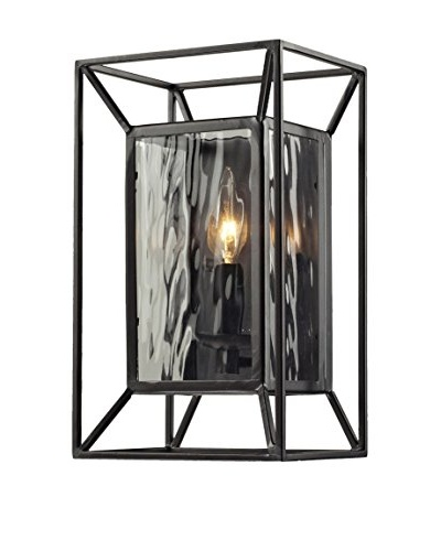 HGTV Home Cubix 1-Light Sconce, Oiled Bronze