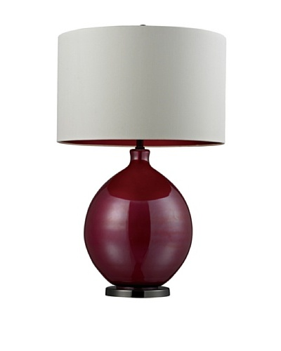 HGTV Home Cerise Pink Blown Glass Table Lamp