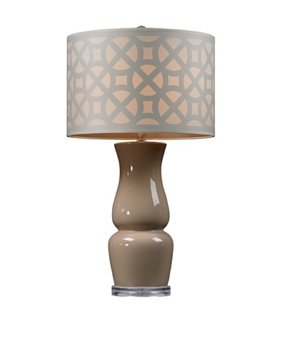 HGTV Home Taupe Ceramic Table Lamp