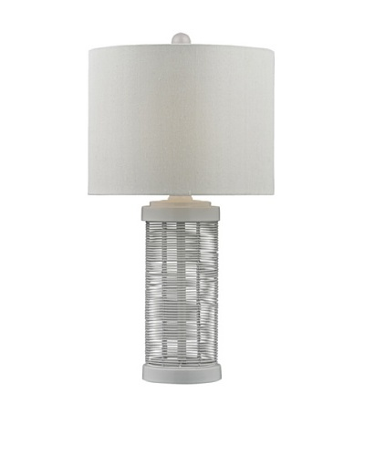 HGTV Home Gloss White Wire Table Lamp