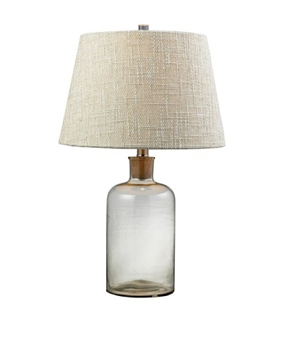 HGTV Home Clear Glass Bottle Table Lamp with Cork Neck