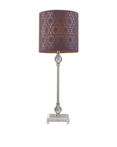 HGTV Home Brushed Steel and Acrylic Table Lamp