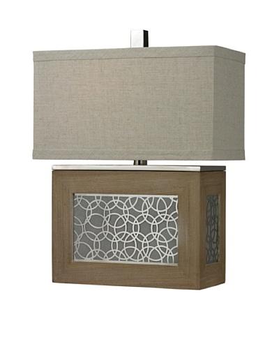 HGTV Home Wood Veneer Table Lamp