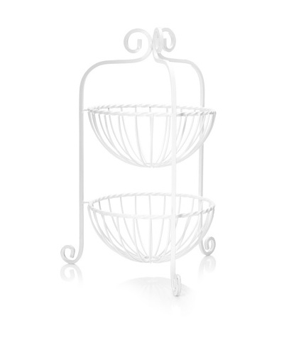 Mesa Home Products Scroll Curl 2-Tier Basket