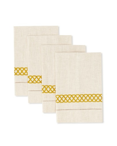 D.L. Rhein Set of 4 Infinity Band Guest Towels