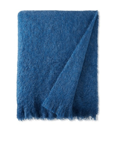 Hinterveld Holiday At Home Blue Throw, Blue