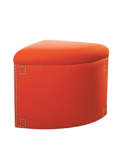 Sandy Wilson Ikat Corner Storage Ottoman, Orange
