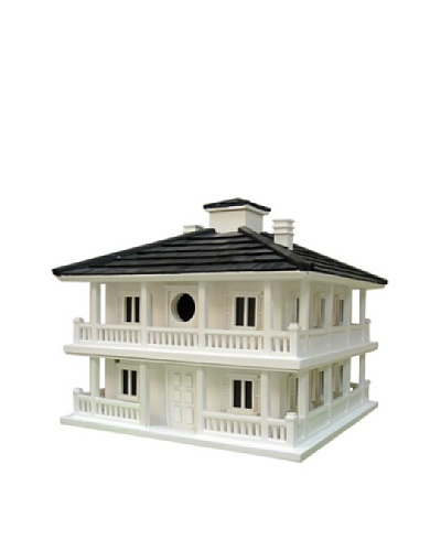 Home Bazaar Club House Small Birdhouse, White