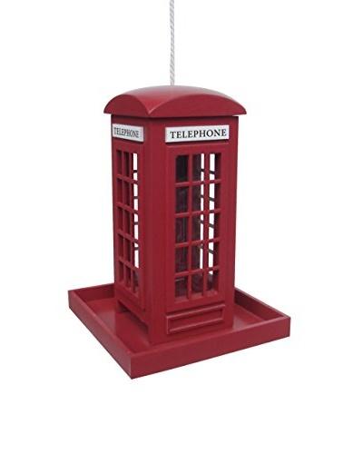 Home Bazaar British Telephone Birdhouse, Red