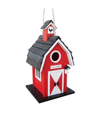 Home Bazaar The Little Barn Birdhouse, Red