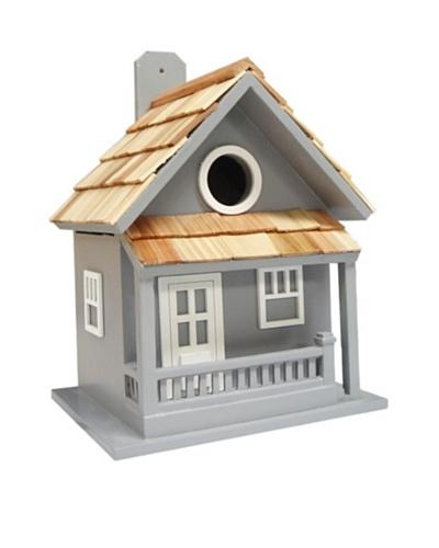 Home Bazaar Little Cabin Birdhouse, Blue