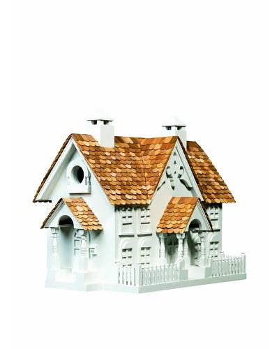 Home Bazaar Wrension Birdhouse, White