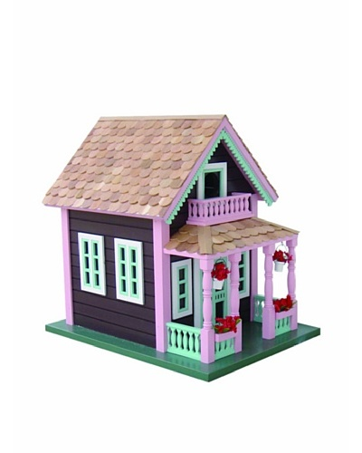 Home Bazaar Petoskey Lake View Cottage Birdhouse, Brown/Pink