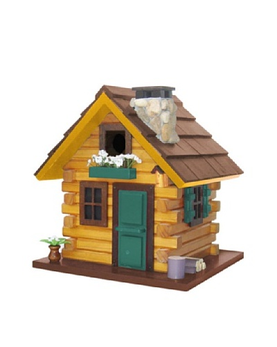 Home Bazaar Country Comfort Birdhouse, Brown/Green