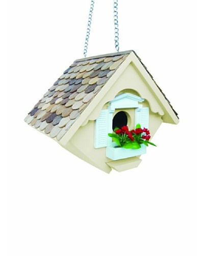 Home Bazaar Little Wren House Birdhouse, Yellow