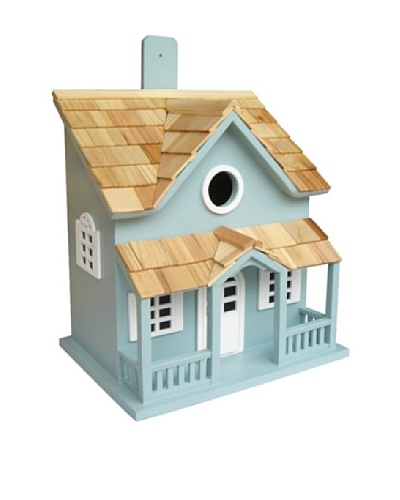 Home Bazaar Springfield Cottage Birdhouse, Blue/White