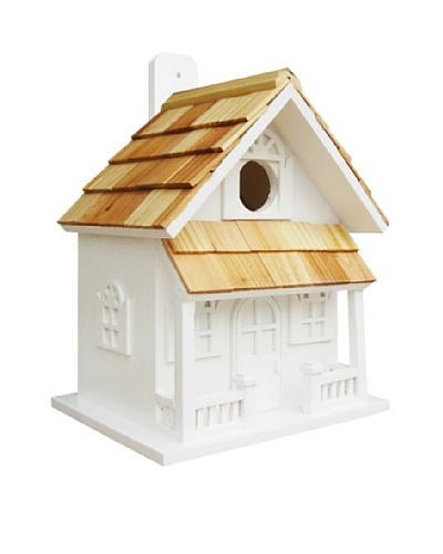 Home Bazaar Country Cottage Birdhouse, White