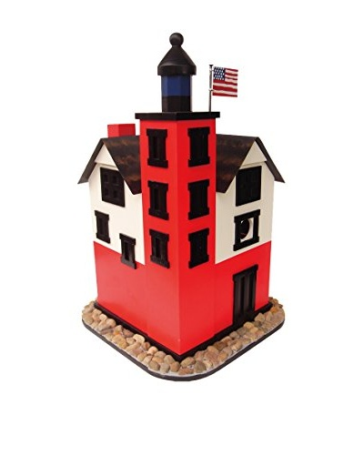 Michigan Lighthouse Birdhouse, Red/Black