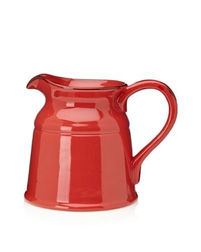 Home Essentials Ceramic Pitcher, Red, Large