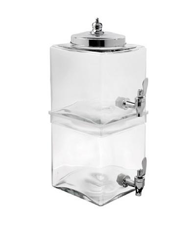 Home Essentials Del Sol 2 Tier Cube Jug Beverage Dispenser, Clear