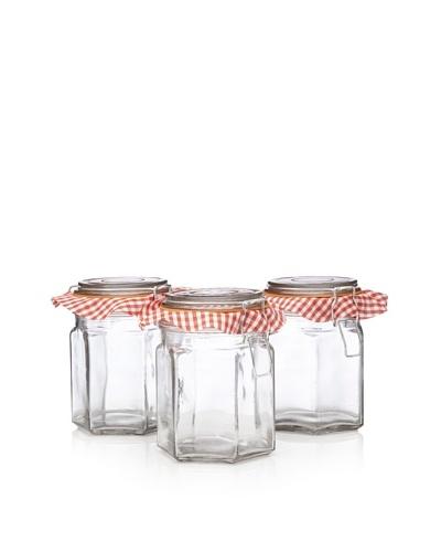 Home Essentials Set of 3 Klein's Bail Hexagon Storage Jars