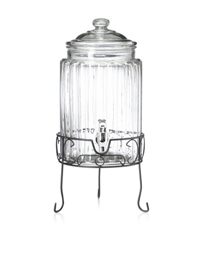 Home Essentials Ridged Drink Dispenser with Stand, 1.5-Gallon