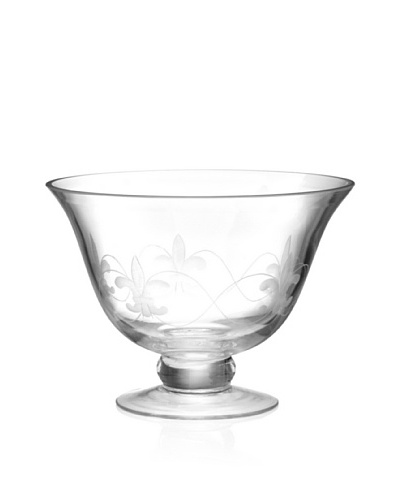 Home Essentials Fleur-de-Lis Footed Bowl