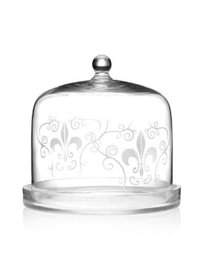 Home Essentials Etched Fleur-de-Lis Cheese Dome
