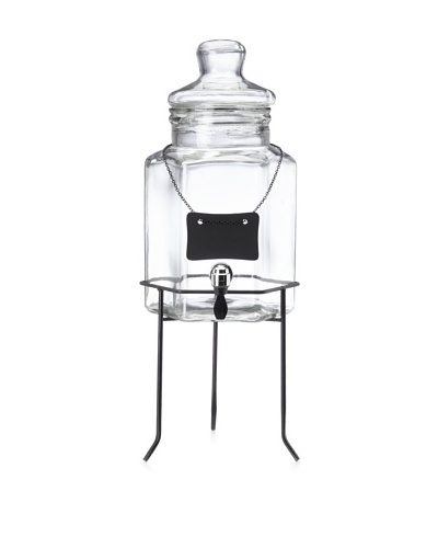 Home Essentials Del Sol Drink Dispenser with Chalkboard, 1.5-Gallon