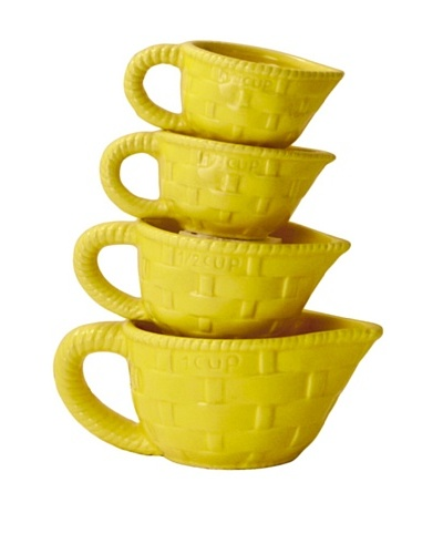Home Essentials 4-Piece Measuring Cup Set [Yellow]
