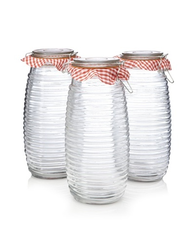 Home Essentials Set of 3 Klein's Bail Ribbed Storage Jars