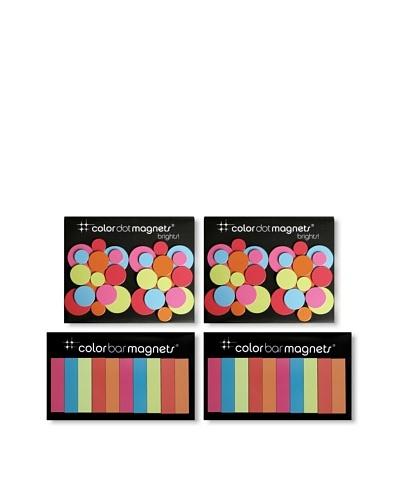 Three by Three Set of 4 Brights Magnet Packs