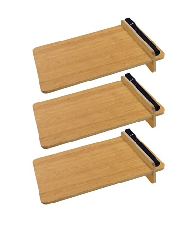 Three by Three Set of 3 To-Do Desktop Dry Erase Boards, Bamboo