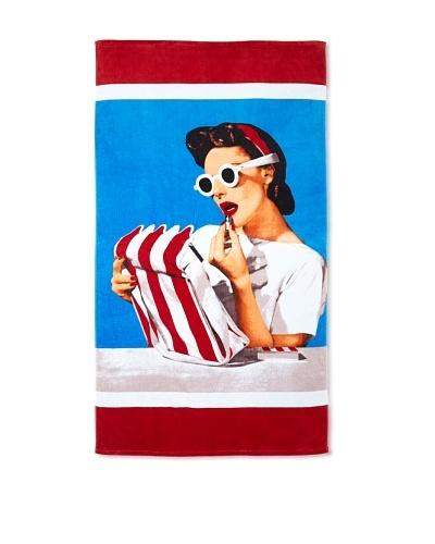 Lipstick Beach Towel