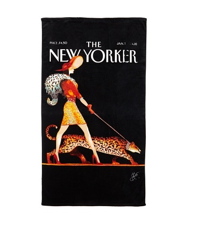 The New Yorker Leopard Lady Beach Towel