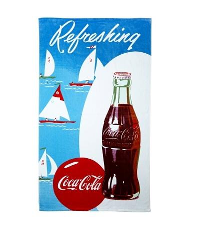 Coke Sailboat Beach Towel