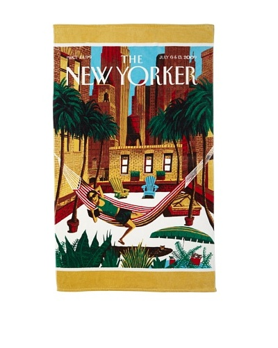 The New Yorker Rooftop Girl Beach Towel