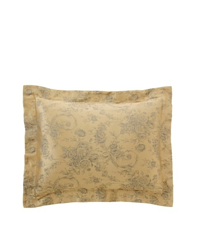 Home Treasures Victoria Floral Sham [Gold/Blue]