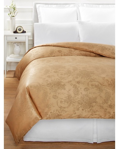 Home Treasures Victoria Floral Duvet Cover [Olive/Gold]