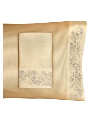 Home Treasures Victoria Stripe Pillowcases [Gold/Blue]