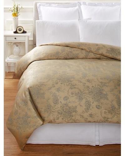 Home Treasures Victoria Floral Duvet Cover [Gold/Blue]