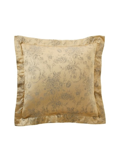 Home Treasures Victoria Floral Sham, Gold/Blue, Euro