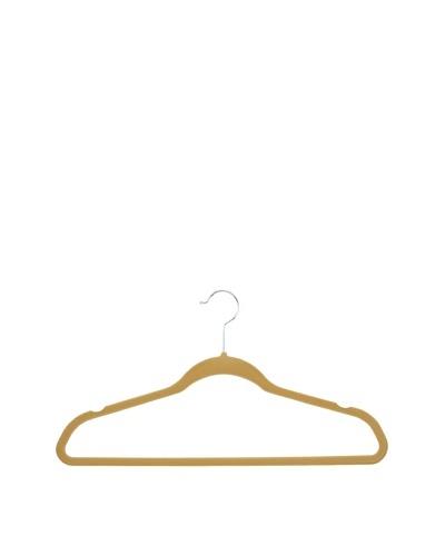 Honey-Can-Do Thin Non-Slip Velvet Hangers, 50-Pack [Tan]