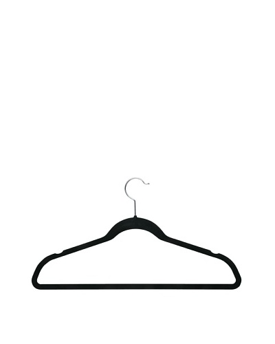Honey-Can-Do 20-Pack Ultra-Thin Non-Slip Velvet-Touch Hangers, Black