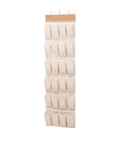 Honey-Can-Do 24-Pocket Over-the-Door Shoe Organizer, Bamboo/Canvas