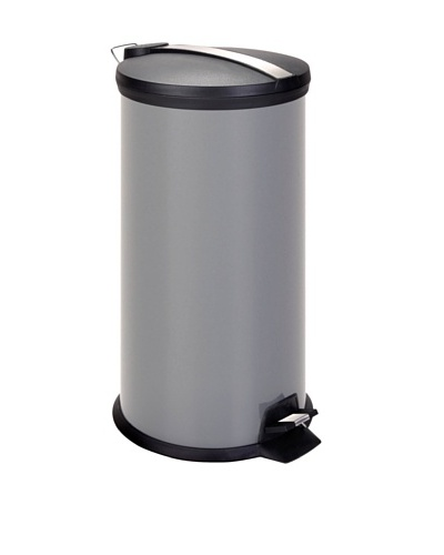 Honey-Can-Do Stainless Steel Step Trash Can with Liner, Grey, 30-Liter/8-Gallon