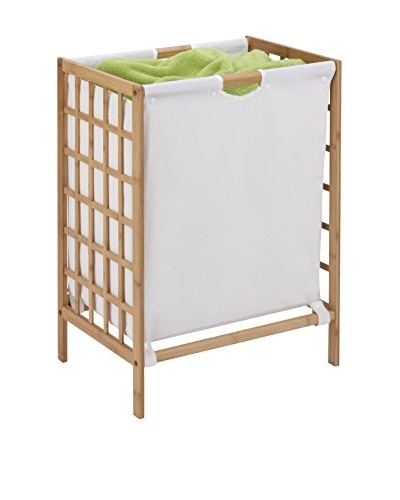 Honey-Can-Do Bamboo Laundry Hamper with Natural Liner