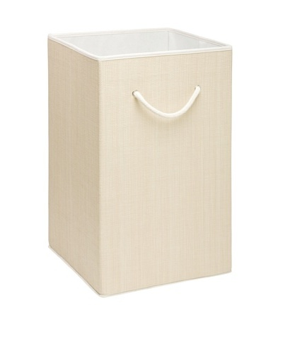 Honey-Can-Do Sturdy Resin Hamper with Rope Handles, Natural
