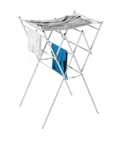 Honey-Can-Do Expandable Drying Rsck with Shelf, White/Silver